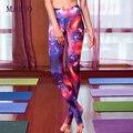 Sólo vendemos de alta calidad Italiana impresión Mujeres starrysky Ropa Pantalones Delgados Leggings paso pie pantalones de Fitness