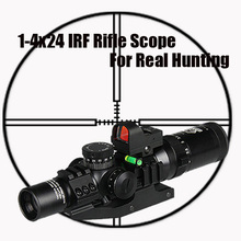 Tactical 1-4x24 IRF RIfle Scope With 1X mini red dot scope and Scope Level Bubble Scope Mount CL1-0292 on scope