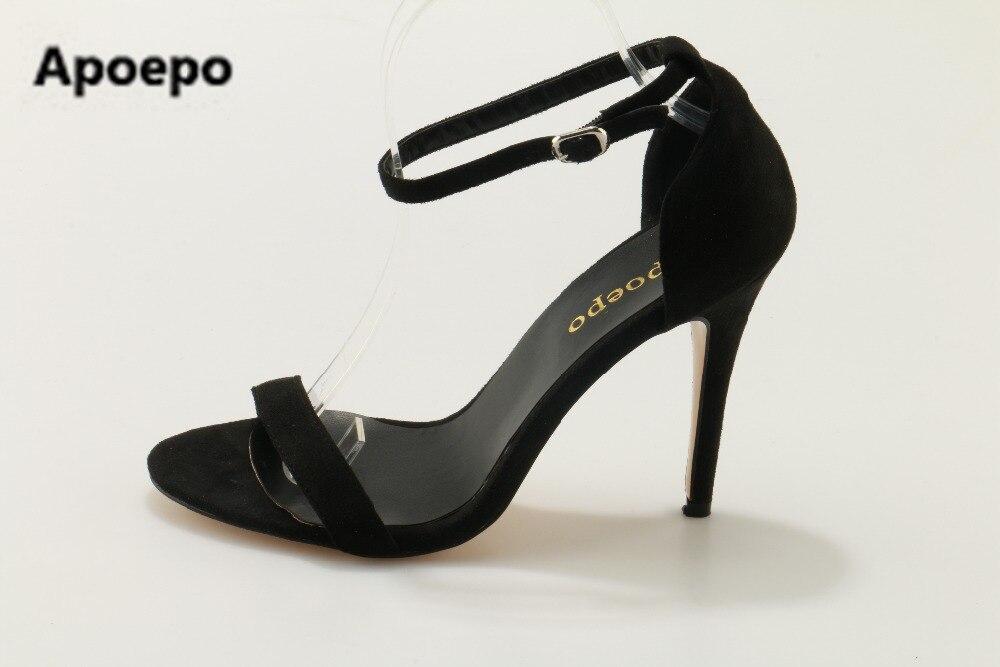 Apoepo brand 2017 women shoes summer office sandals elegant high heels sandals women black party shoes big size 43 hot women party sandals 2016 summer brand elegant high heels sandalias women s dress shoes sandal sjl342 page 3