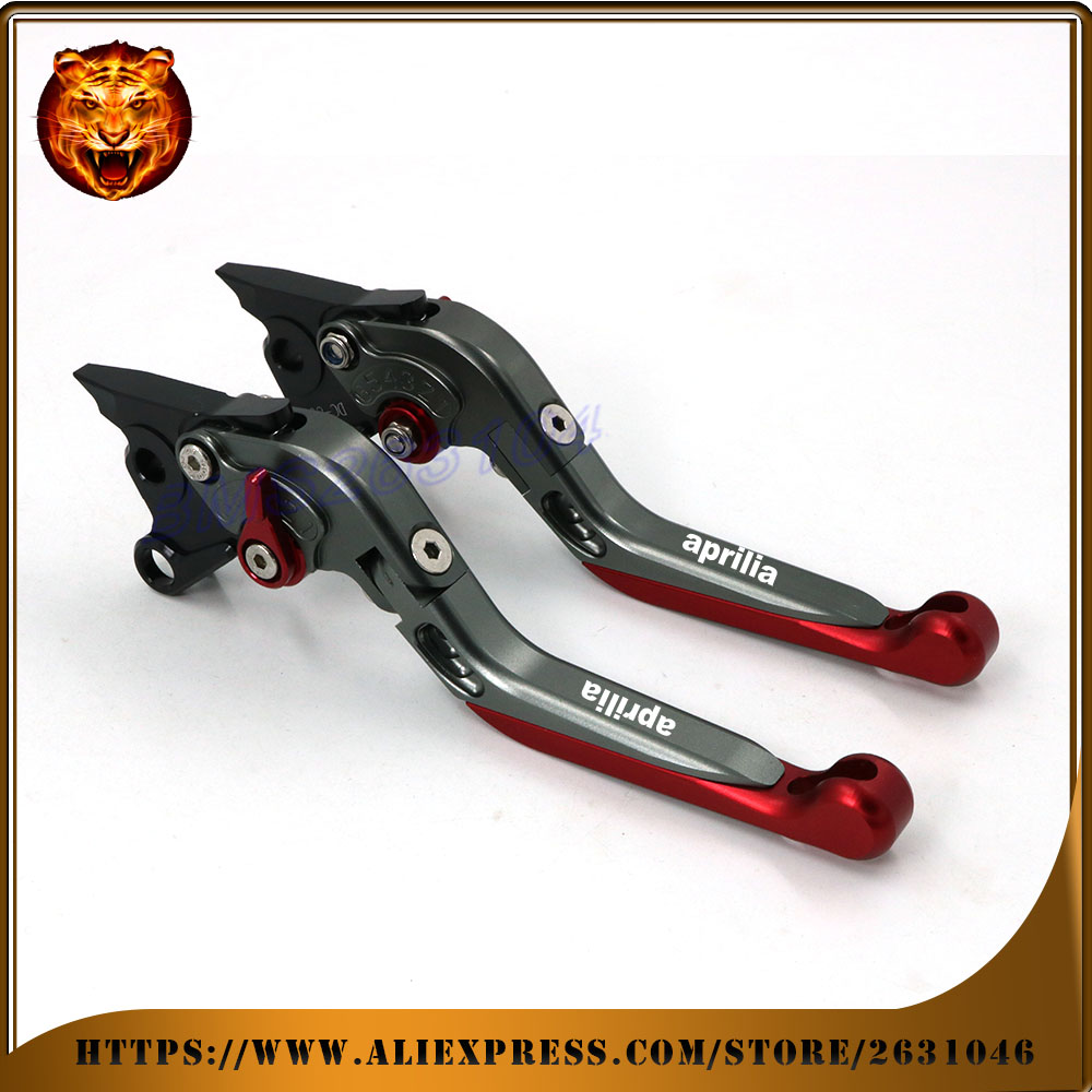 Adjustable Folding Extendable Brake Clutch Lever For APRILIA RSV MILLE/R FALCO/SL1000 02 03 04 LOGO  Free shipping Motorcycle колечко maximus с 10 металлическими шариками