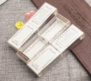 Image 3 - Kawaii Transparent Plastic Pencil Case Lovely Pen Box