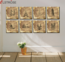 CV 8 Piece Art Set Modern Foreign Architecture Wall Painting Picture
