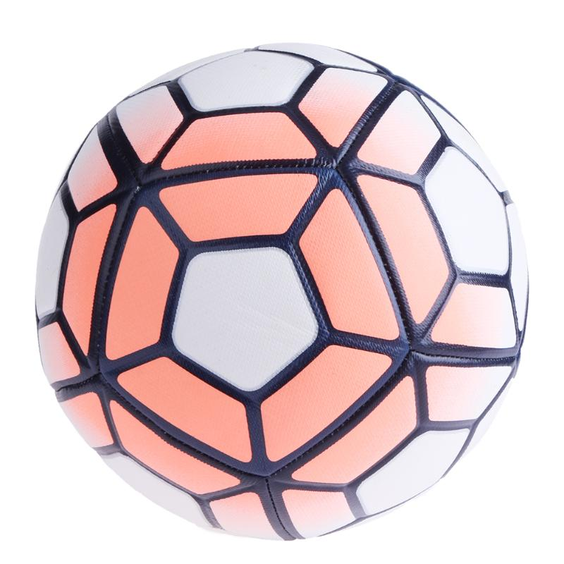 Soccer Ball NO.5 Machine Sewn Soccer Soft PU Balls Slip-resistant Trainning Football Goals Gifts