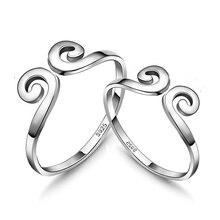JEXXI Большое Поощрение Моды Серебряный Цвет Кольца Пара Обручальное кольцо Обещание Кольца Для Женщина Мужчина Мода Anillos Ювелирные Изделия