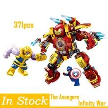 Legoings Tehnic Avengers Infinity War Thanos Captain Hulkbuster Blocks Toys Hulk Buster Iron Man Armor Kid Gifts Marvel