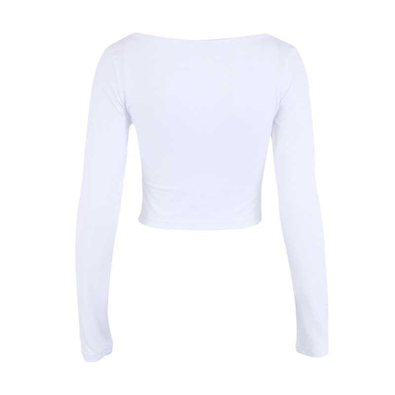 NewAsia גן נמוך חזה V-צוואר קפלים נשים חולצה 2018 חדש עיצוב אישה חולצות באיכות כותנה נשים קצר ארוך שרוול חולצות