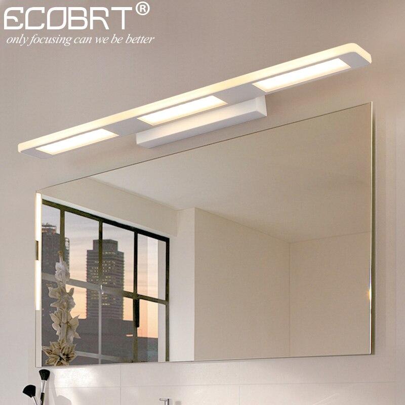 ECOBRT moderne 12 W 18 W salle de bains mur LED luminaires pour la maison intérieur blanc appliques murales 110-240 V AC