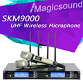 New arrival !! Top Quality SKM9000 4 Antenna for Stage !! Golden Handheld Mic Professional SKM 9000 Wireless Microphone System