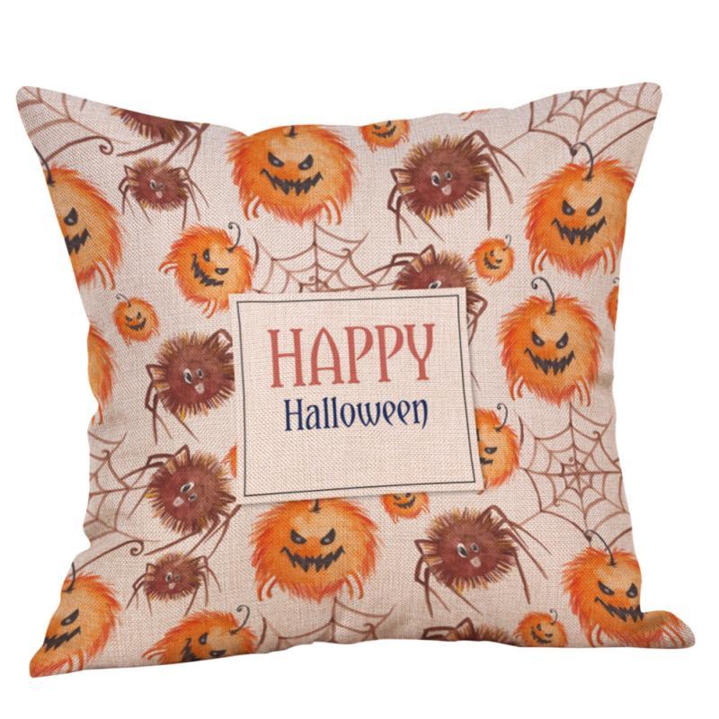Aliexpress Com Buy Cushion Cover Halloween Yellow Orange