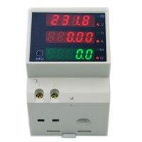 D52-2047 디지털 led 다기능 din 레일 ac 0-100a 전류계 전력계 전압 전류 측정기 전압계 ac 80-300 v 40% off