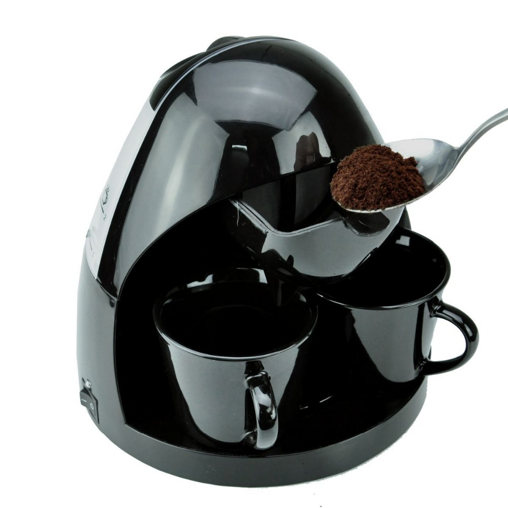 Adoolla Household Drip Type Automatic Coffee Maker Machine with 2 Cups Coffee Machine For Home Kitchen home intelligent fully automatic american style coffee machine drip type small is grinding ice cream teapot one machine