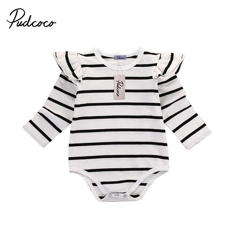 e48153e337de Newborn girl Autumn Spring Clothes Baby girl One Pieces Child Baby girl Long  Sleeve Striped Bodysuit Cotton Body Suit   Emma Grace