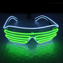 New Two-Color Blinds Modes Flash EL Glasses Luminous Lighting Colorful Glowing DJ Classic Carnival Dance Bar Party