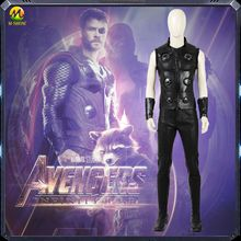 Newest Avengers Infinity War Thor Cosplay Costume Odinson Dress For Halloween Men
