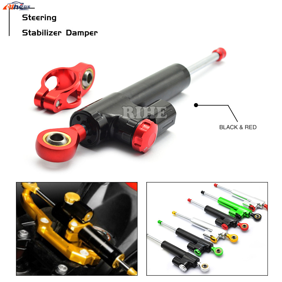 Universal CNC Motorcycle Street Bike Steering Damper Stabilizer Adjustable For HONDA CB600 HORNET CBR 600 F2,F3,F4,F4i Aprilia free shipping universal cnc motorcycle street bike steering damper stabilizer adjustable gray