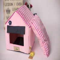 Removable Cover Mat Dog House Dog Beds For Small Dogs Pet Products House Pet Beds For