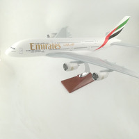 45 47CM Emirates A380 Resin Aeroplane Models Static Plane Aircraft Models Stand Toy Collections Gift Free EMS express shipping