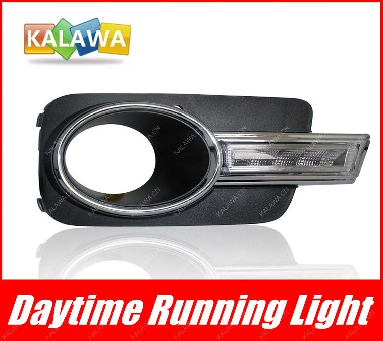 LED Daytime running light case for Volkswagen 2010-2012 VW Tiguan VW-011 DRL / LED lights FREESHIPPING GGG dongzhen 1 pair daytime running light fit for volkswagen tiguan 2010 2011 2012 2013 led drl driving lamp bulb car styling