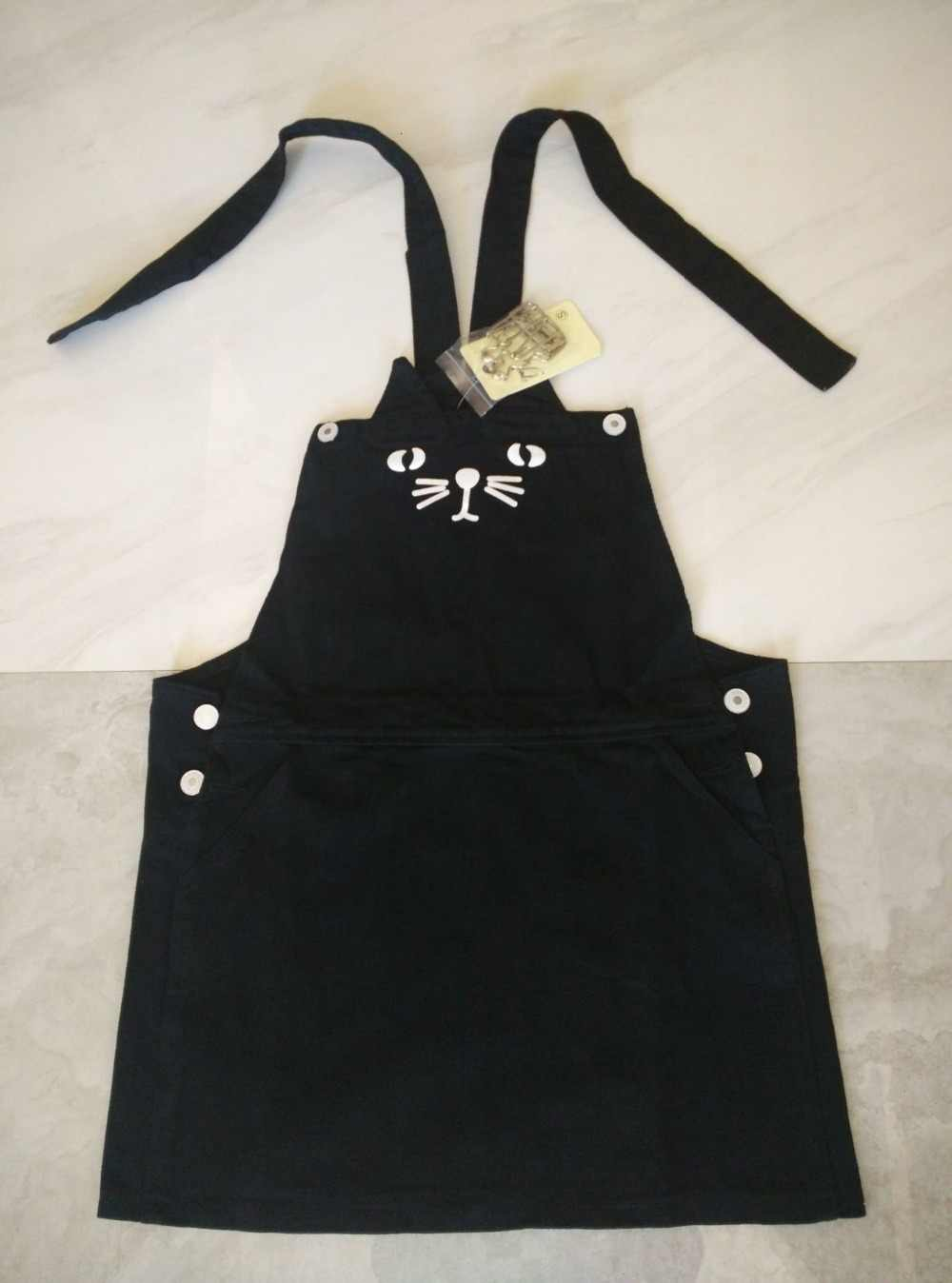5cd058ce8b ... 2019 Kawaii Women Cute Cat Suspender Denim Dress Loose Jeans Preppy  Style Sundress Overall Romper Playsuit ...