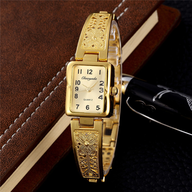 2018 Fashion Golden Silver Stainless Steel Women Watches Top Brand Luxury Ladies