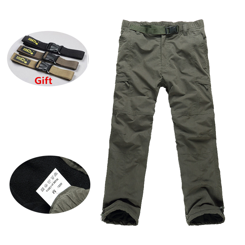 2018 New Winter Double Layer Men's Cargo Pants Warm Baggy Pants Cotton Trousers For Men Male Military Camouflage Tactical Pants