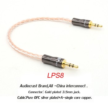 1pcs OCC copper 3.5mm Premium Auxiliary Audio Cable AUX Cable for Headphones, iPods, iPhones, iPads, Home / Car Stereo