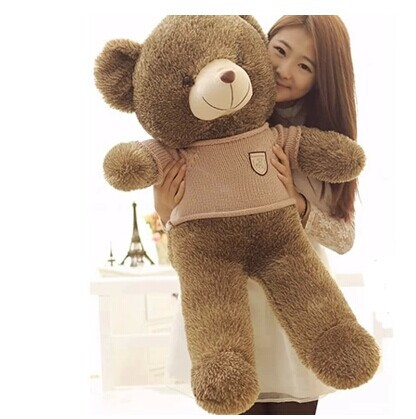ᐂЧучело 100 см хаки ткань коричневый плюшевый медведь ...
