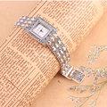 100% 925 Libras Esterlinas de Prata Relógio de Quartzo Relógio de Pulso para Mulheres Lady Moda Thail Prata Feminino Pulseira de Relógio de Prata