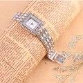 100% de Plata de ley 925 Thail Plata Reloj de Cuarzo Reloj de Pulsera para Señora de Las Mujeres de Moda Femenina Reloj Pulsera de Plata