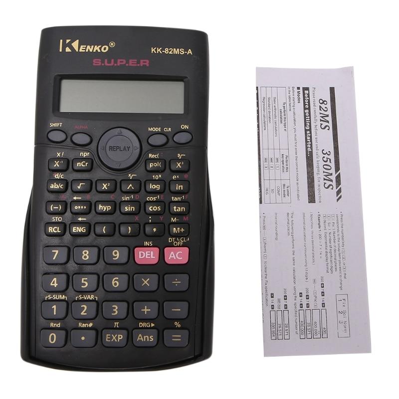 Студент мульти-Функция 2-линии Дисплей 12 разрядный электронный научный калькулятор RULL.9