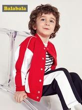 Balabala ילדים בני בניגוד מפציץ מעיל בייסבול מעיל ילדים פעוט בני אביב סתיו מעיל להאריך ימים יותר בגדי בגדים