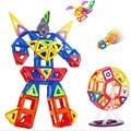 37 шт. Большой Размер Магнитного Строительные Блоки Игрушка DIY Робот Магнитный Конструктор Обучения Образовательных Пластиковые Кирпичи Игрушки Для Детей