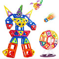 37pcs Big Size Magnetic Building Blocks Toy DIY Robot Models Magnetic Designer Learning Educational Plastic Bricks Toys For Kids