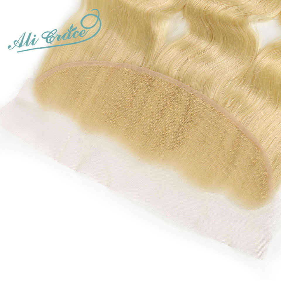 Ali Grace, бразильские волнистые волосы, 613 блонд, пряди с фронтальной частью, 13*4, швейцарские кружевные фронтальные Человеческие волосы Remy