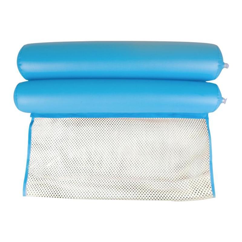 Summer New Water Hammock Folding Inflatable Air Cushion Swimming Pool Beach Water Sports Mattress Swim Diving Pad Air Cushion