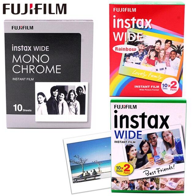 10 100 fogli Originale Fujifilm Instax Largo Immediata Film Bianco/Arcobaleno/In Bianco E Nero Per Fuji Macchina Fotografica Istantanea 300 /200/210/100/500AF