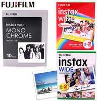 10-100 sheets Original Fujifilm Instax Wide Instant Film White/Rainbow/Monochrome For Fuji Instant Camera 300/200/210/100/500AF