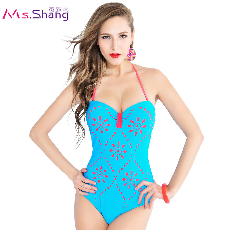 Swimwear Women One Piece Bathing Suit Sky Blue 2016 Monokini Push Up Swimwear May Beach Female Swimwear Large Size Swimwear 4XL extra large size or more beach tropical swimsuits one pieces swimwear women 2017 monokini brand