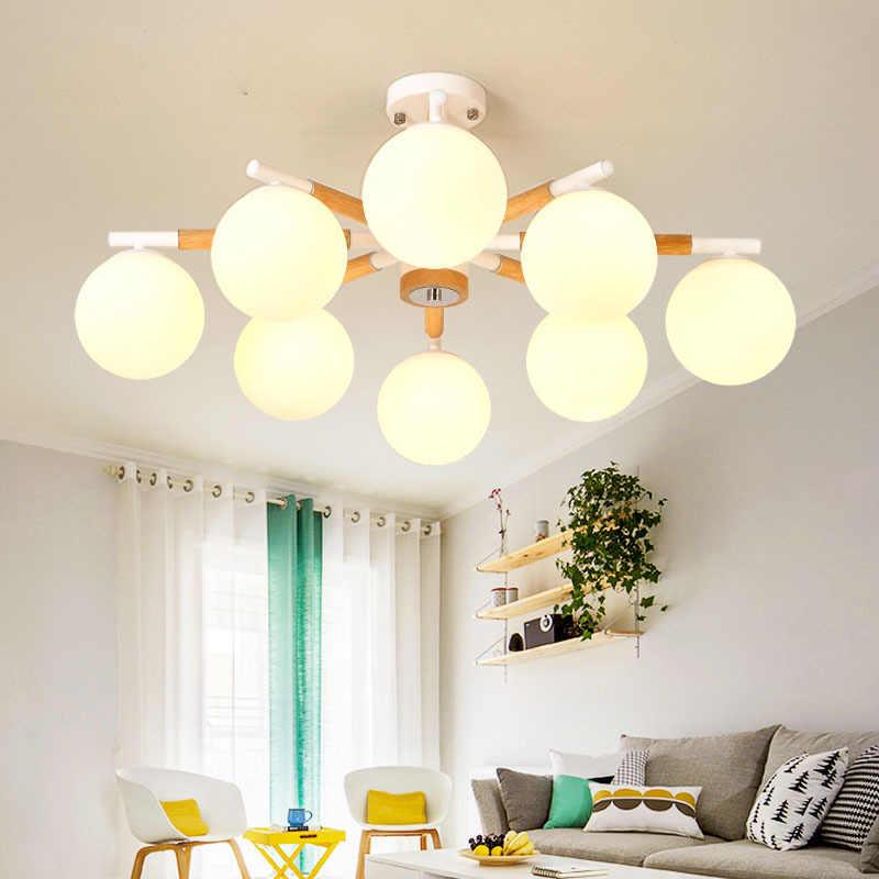 современный светодиодный потолочный светильник деревянные светильники для дома светильники в стиле лофт скандинавские подвесные светильники для