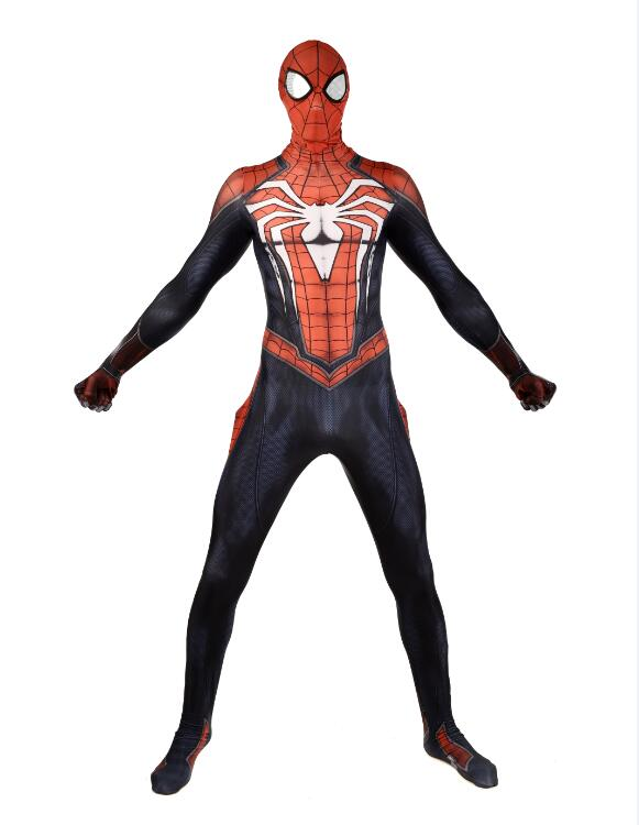 New Game PS4 INSOMNIAC Spiderman Costume 3D Print Lycra SPIDERMAN SUIT Spider-man Costumes Avengers peter parker spiderman