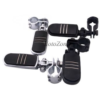 "1 1/4"" Motorcycle Highway Crash Bar Footrest Pedal Foot Pegs Footpeg Mounting Kit Suit For Harley Sportster 883 Honda Yamaha"