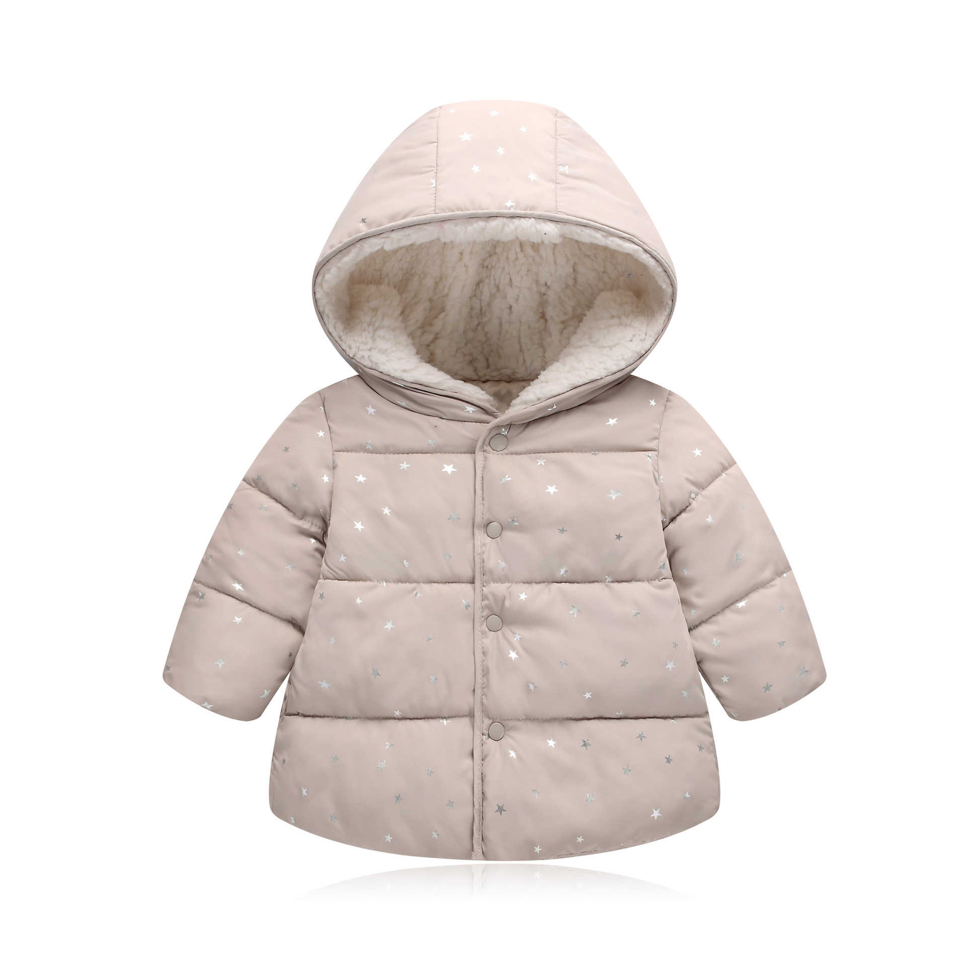 Baby Girls Winter Jackets Fur Hooded Cotton-padded Short Coat for Little Girl age 1 2 3 4 5 years old Autumn Children Outwear free shipping children s scooter user age 2 5 years old 3 wheels blue pink