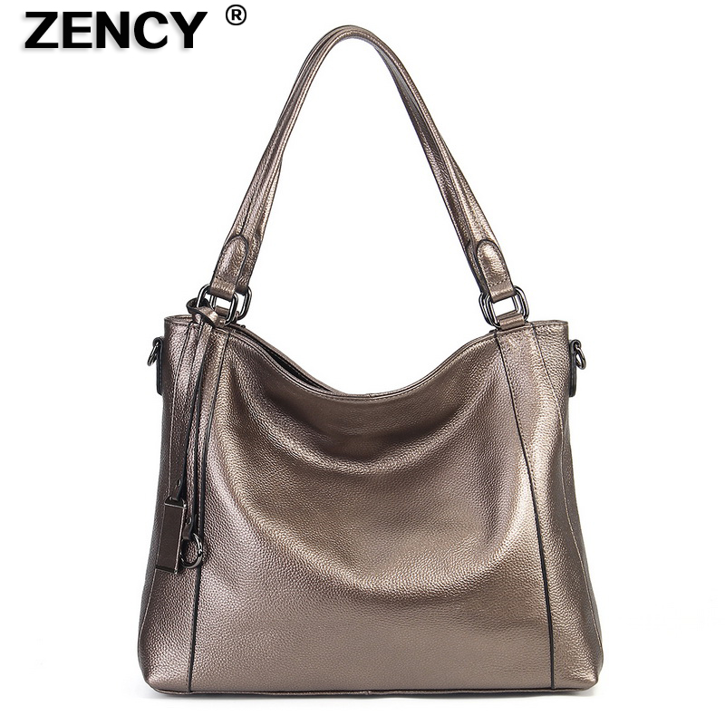 ZENCY Genuine Leather First Layer Cow Skin Women s Shoulder Bags Soft Real Cowhide Cross Body