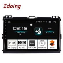 "Idoing 9 ""4G + 64G Octa Core Autoradio Android8.0 Multimedia Player Fit Toyota Prado 120 Land cruiser 2004-2009 di Navigazione GPS 2.5D"