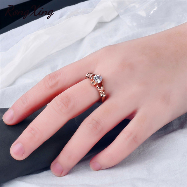 Claddagh Ring Gold Womens 4