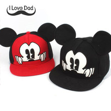 f71d827f6c9 Mickey ears baby sun hats children snapback Caps baseball Cap winter summer  toddler kids baby boy girls hats caps bonnet enfant