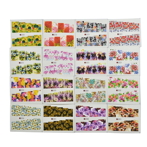 Image 5 - 48pcs Mix Colorful Full Nail Flower Nail Art Water Transfer Sticker Nail Sticker Sets for Gel Polish Manicure Decals TR#A049 096
