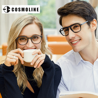 EYECROXX Vintage Optical Acetate Eyewear Eyeglasses Frame With Clear Lenses Retro Round Acetate Frame Reading Glasses