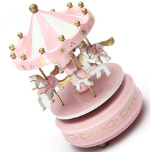 TFBC-Musical carousel horse wooden carousel music box toy child baby game