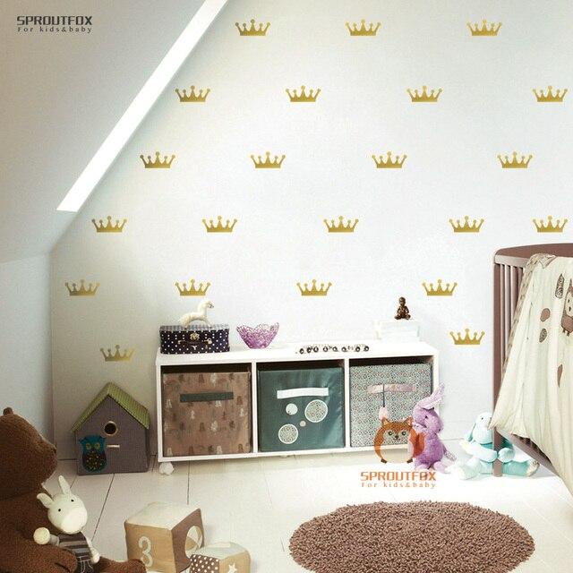 Belle Couronne Motif Stickers Muraux Pour Chambre d\'enfant Mur ...